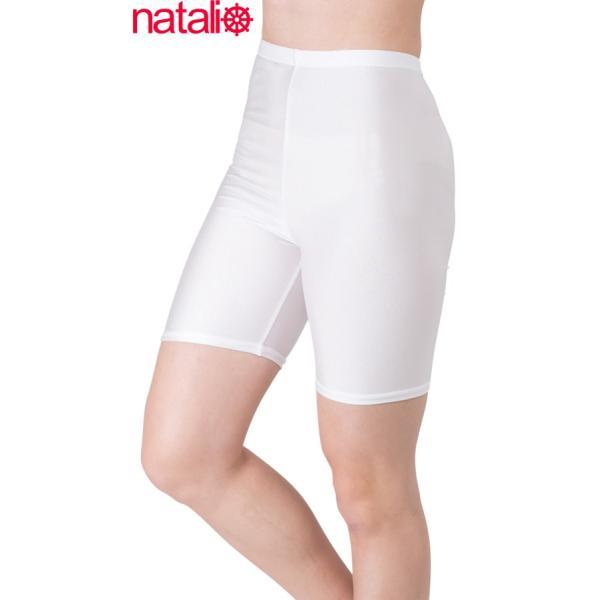 日本製 スパッツ 3分丈 白 2WAYトリコット 吸汗速乾 ML-JML フィットネス エアロビクス ヨガウエア ジャズダンス 舞踊など|natalie-go|07