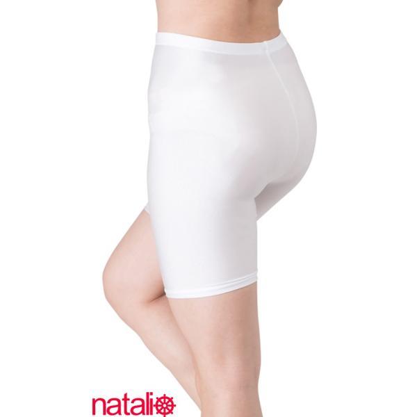 日本製 スパッツ 3分丈 白 2WAYトリコット 吸汗速乾 ML-JML フィットネス エアロビクス ヨガウエア ジャズダンス 舞踊など|natalie-go|09