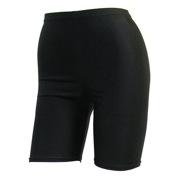日本製 スパッツ 3分丈 黒 2WAYトリコット 吸汗速乾 ML-JML フィットネス エアロビクス ヨガウエア ジャズダンス 舞踊など|natalie-go|02