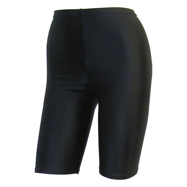 日本製 スパッツ 5分丈 黒 2WAYトリコット 吸汗速乾 ML-JML フィットネス エアロビクス ヨガウエア ジャズダンス 舞踊など|natalie-go|02