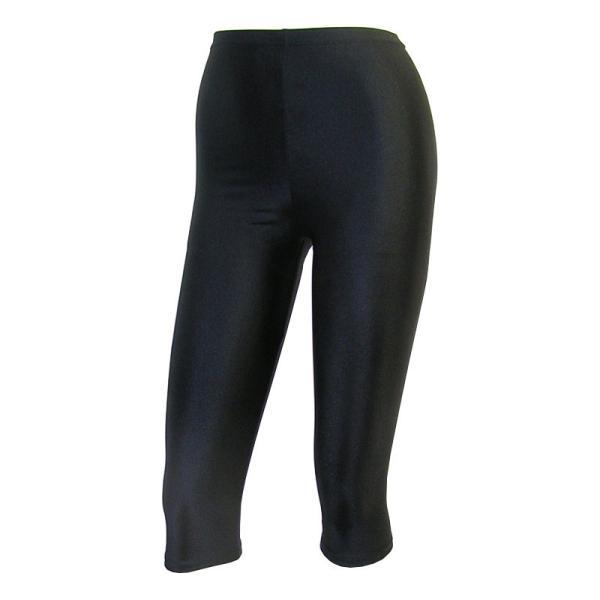 日本製 レギンス 7分丈 黒 2WAYトリコット 吸汗速乾 ML-JML フィットネス エアロビクス ヨガウエア ジャズダンス 舞踊など|natalie-go|02
