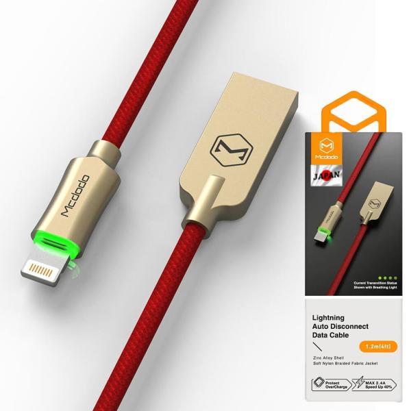 ライトニングケーブル lightning iphone 充電ケーブル 1.8m 過充電防止機能 トリクル充電 LED発光 Mcdodo日本 一年保障 native-fish-dreams 17