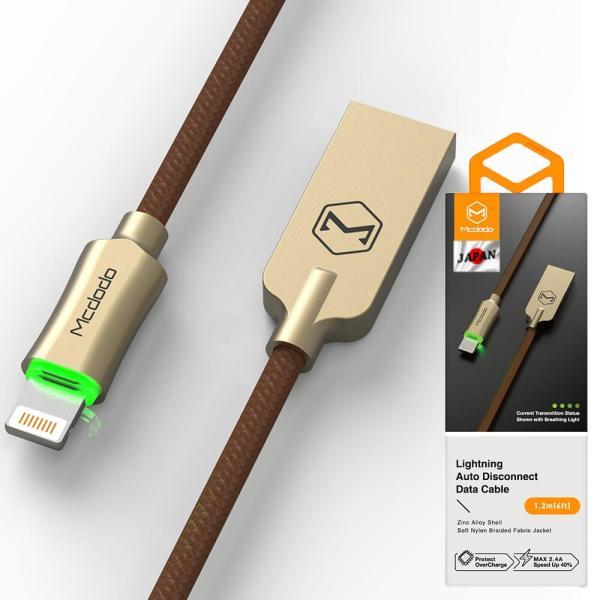 ライトニングケーブル lightning iphone 充電ケーブル 1.8m 過充電防止機能 トリクル充電 LED発光 Mcdodo日本 一年保障 native-fish-dreams 16