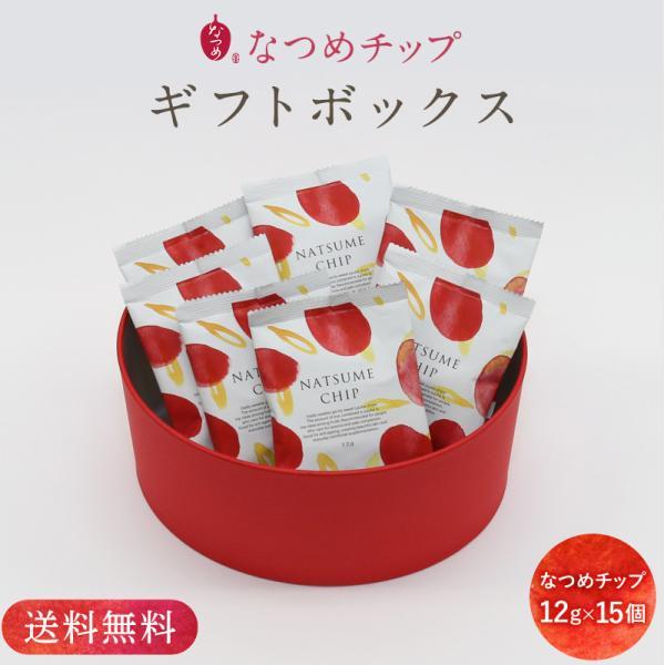 【オリジナルギフトボックス入り】なつめチップ12g×15個ギフトセット 手提げ袋付き のし無料 プレゼント ナツメ ドライフルーツ なつめチップス 腸活