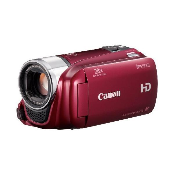 Canon デジタルビデオカメラ iVIS HF R21 レッド IVISHFR21RD 光学20倍 手|natsumestore