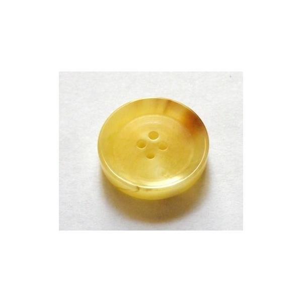 水牛ボタン 14mm 貴重なベージュ 本格的イタリアモデル スーツの袖ボタンに最適の本水牛 No.1027