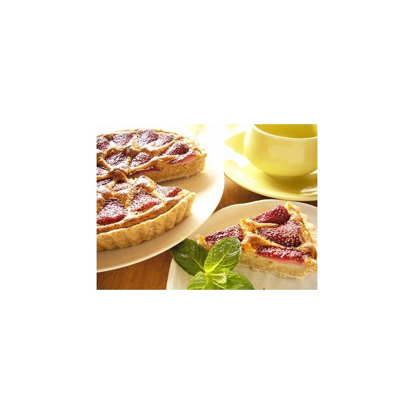 苺の焼きタルト 18cm マクロビ アレルギー対応 卵・乳製品不使用|natural-fukurou|02