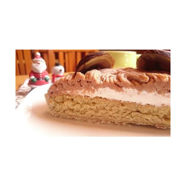 クリスマスケーキ 2017 予約 アレルギー 取り寄せ モンブラン タルト マクロビ 14センチ アレルギー対応 卵・乳製品不使用|natural-fukurou|04