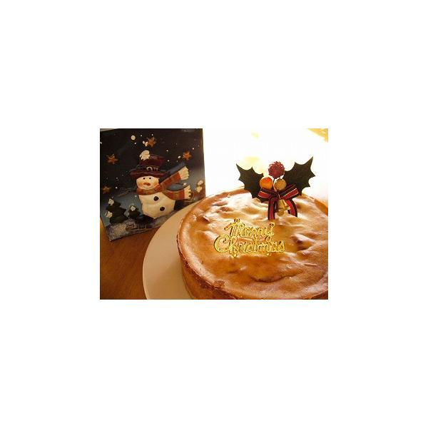 クリスマスケーキ 2018 予約 アレルギー 取り寄せ アップル豆腐チーズケーキ マクロビ アレルギー対応 卵・乳製品不使用|natural-fukurou