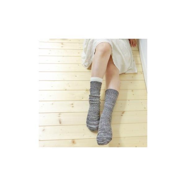 シルク 五本指 & コットン リブ ソックス 2足セット 冷えとり 5本指 靴下 日本製 natural sunny|natural-sunny|04