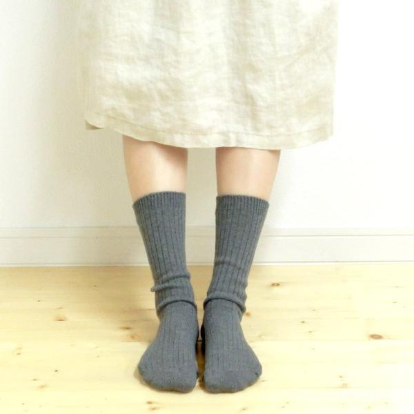 シルク 五本指 & コットン リブ ソックス 2足セット 冷えとり 5本指 靴下 日本製 natural sunny|natural-sunny|05