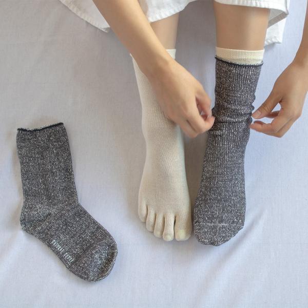 シルク コットン 五本指 & シルクコットン ソックス 靴下 レディース 2足セット 日本製 natural sunny|natural-sunny|11