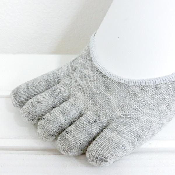 リネン 杢 五本指 フットカバー レディース 靴下 日本製 natural sunny|natural-sunny|04