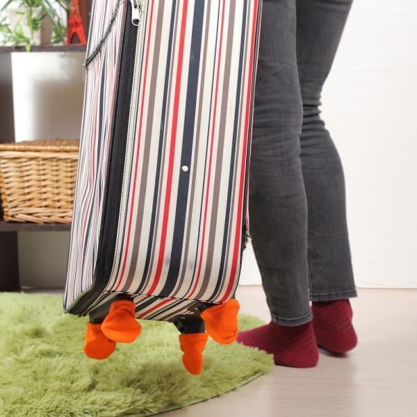 b49db99bfc ... スーツケース ホイール用 カバー 保管時の床汚れを防止 キャリーケースのタイヤ ...