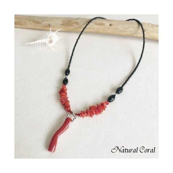 血赤珊瑚 ちあかさんご 赤珊瑚 ネックレス ナチュラルコーラル 送料無料 B