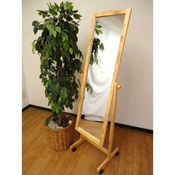 W-3015 キャスター付き 木製スタンドミラー   幅48cm 高さ150cm   日本製|naturalhousee|03