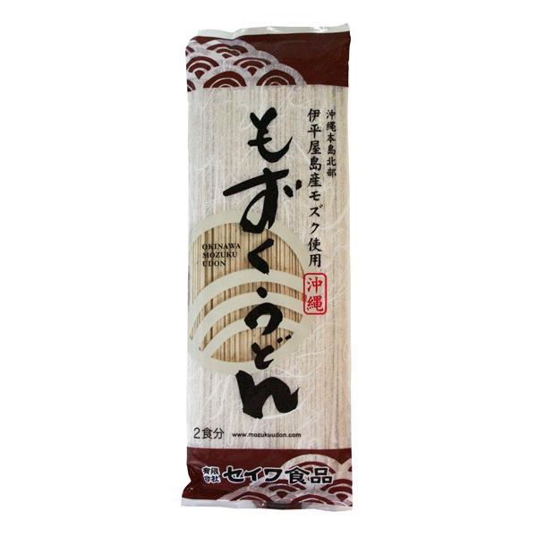もずくうどん 160g 2食分 乾麺(つゆ無し)(沖縄 セイワ食品 無添加)