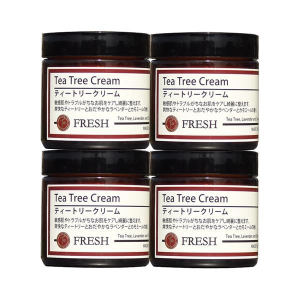 ティートリークリーム 60g×4個セット (ティーツリークリーム) フレッシュアロマ |natures