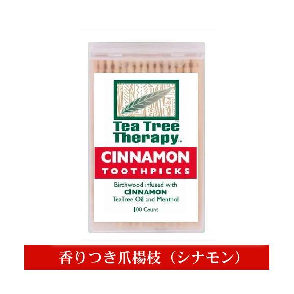 香りつき爪楊枝 100本入り(シナモン) TEA TREE THERAPY|natures