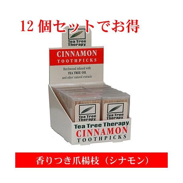 香りつき爪楊枝 100本入り×12個セット(シナモン) つまようじ TEA TREE THERAPY|natures