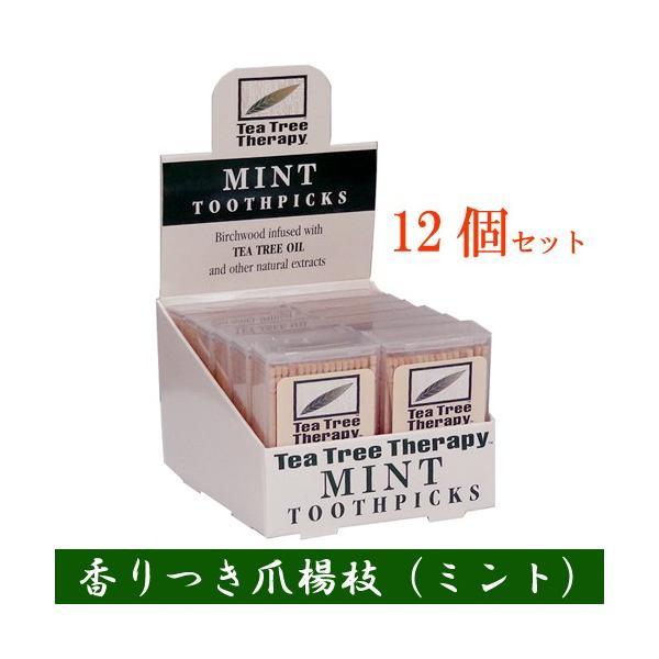 香りつき爪楊枝 100本入り×12個セット (ミント) |natures