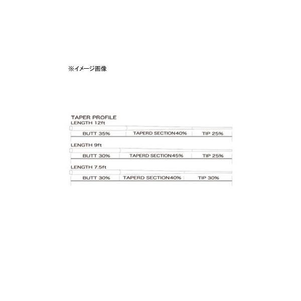 フライライン ティムコ リーダースタンダード 7.5フィート 6X ステルスグレー