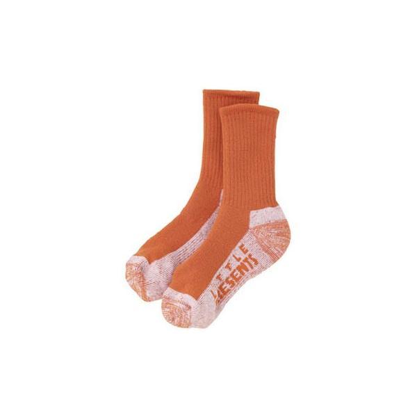 フィッシングウェア リトルプレゼンツ メリノウール ソックス(極厚) L オレンジ(OR)
