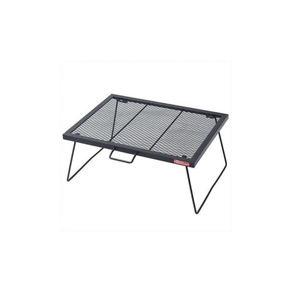 アウトドアテーブル TENT FACTORY スチールワークス FDテーブル600 600 ブラック