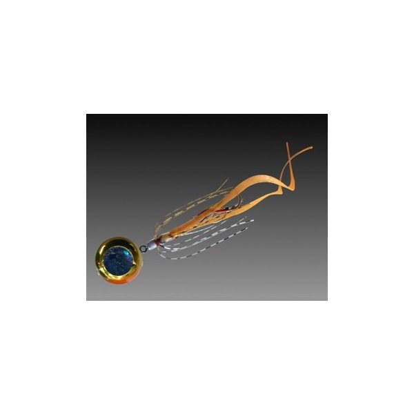 タイラバ・タイテンヤ 剣屋 遊動式タイラバ 参力 カーリー 80g オレンジゴールド