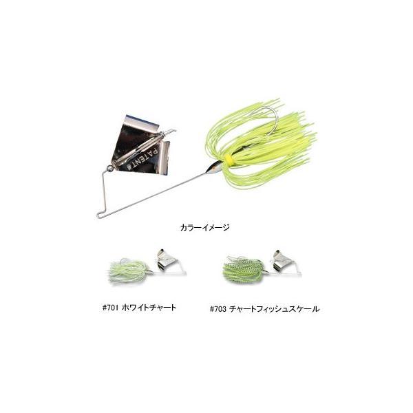 バス釣り用ハードルアー ゲーリー バズベイト 1/4oz チャートフィッシュスケール