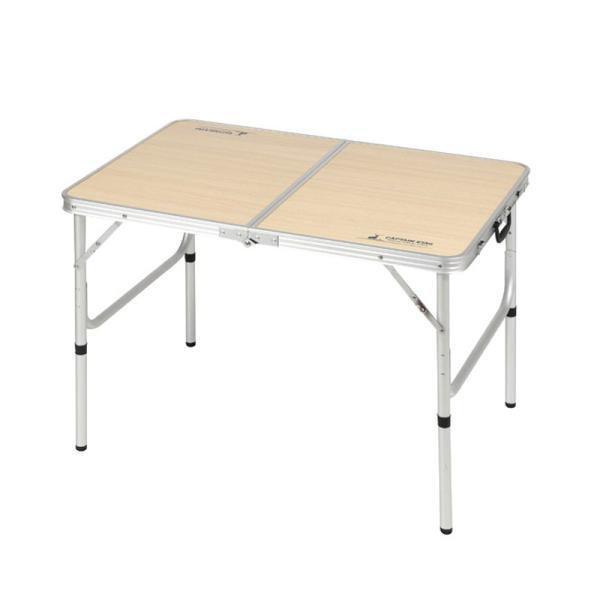 アウトドアテーブル キャプテンスタッグ ジャストサイズ ラウンジチェアで食事がしやすいテーブル S 60×90cm