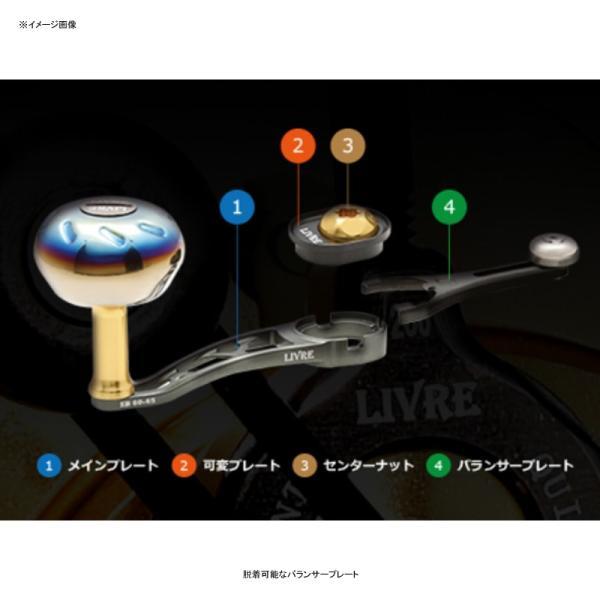リールカスタムパーツ LIVRE SB(エスビー)60-65 シマノ用 左巻き 60mm-65mm TIR(チタンゴールド×レッド)