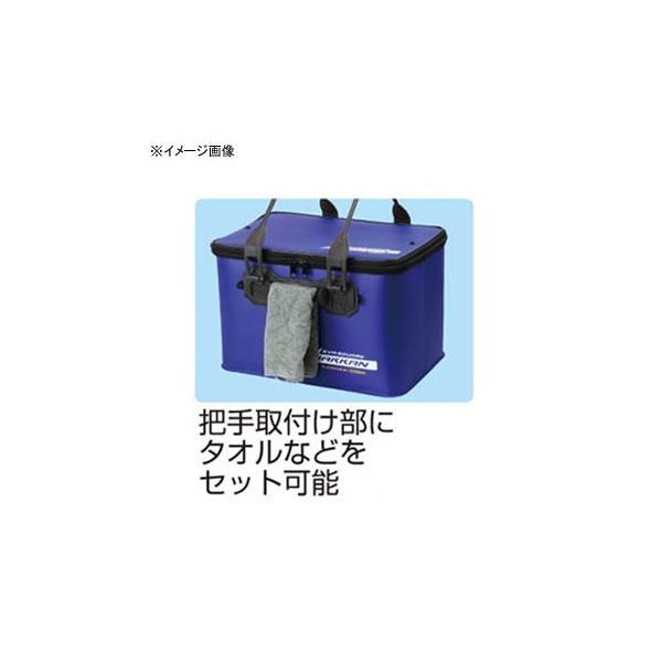 大阪漁具 EVA角バッカン(フタ把手付) 36cm ブラック