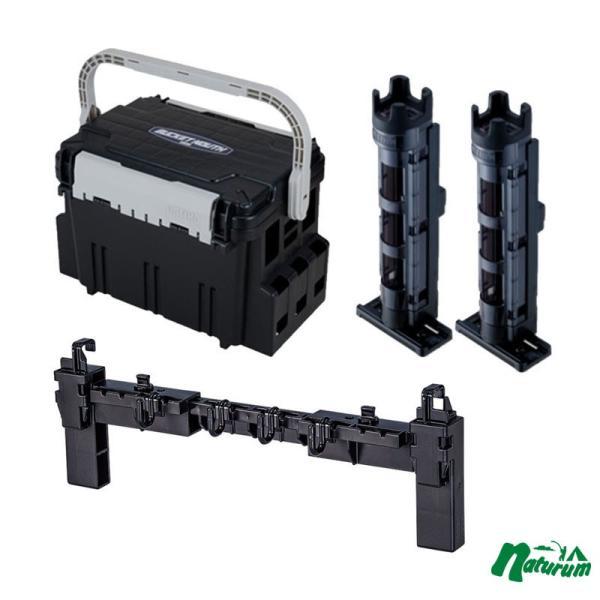 タックルボックス メイホウ バケットマウスBM-5000+BM-250 Light 2本組+マルチハンガーBMの4点セット