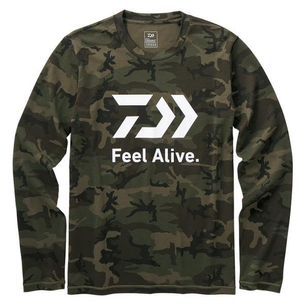 フィッシングウェア ダイワ DE-82009 ロングスリーブFeel Alive Tシャツ 2XL グリーンカモ