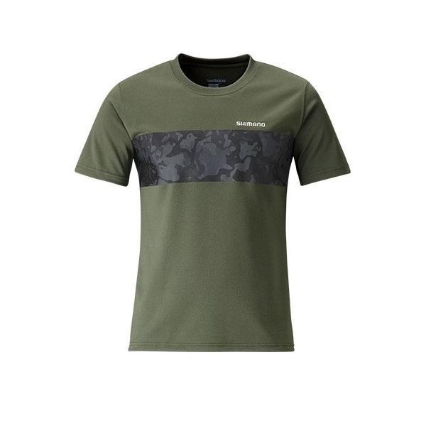 フィッシングウェア シマノ SH-096S Tシャツ(半袖) XL カーキ