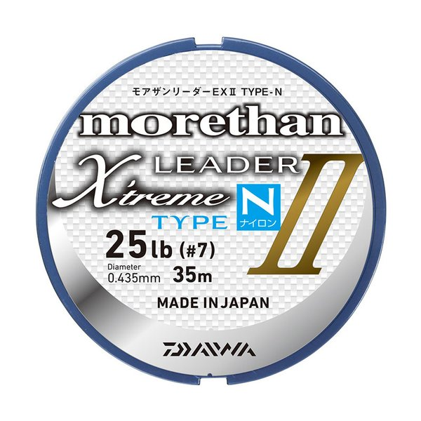 ダイワ モアザンリーダーEX II TYPE-N(ナイロン) 25m 8号/30lb クリアー