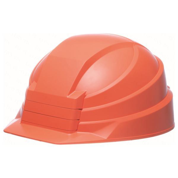 安全用品 DICプラスチック 折りたたみヘルメット IZANO2 オレンジ