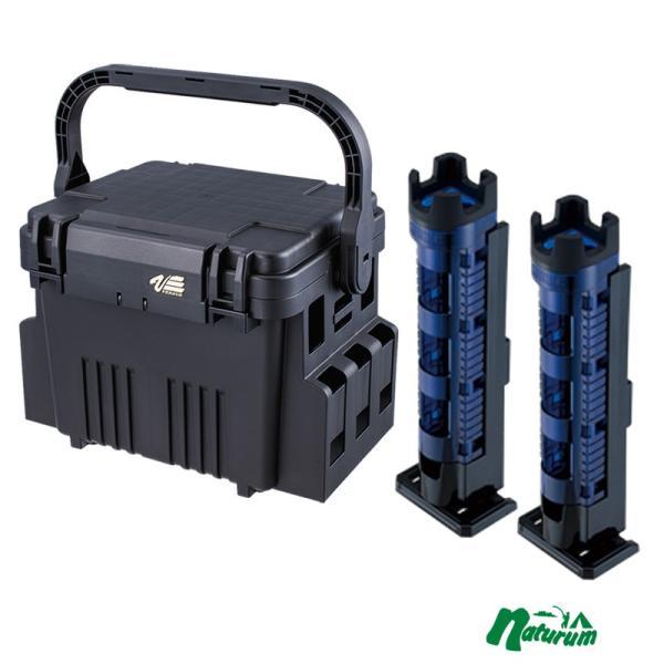 タックルボックス メイホウ ★VS-7080+ロッドスタンド BM-300 Light 2本組セット★ Cブルー×ブラック