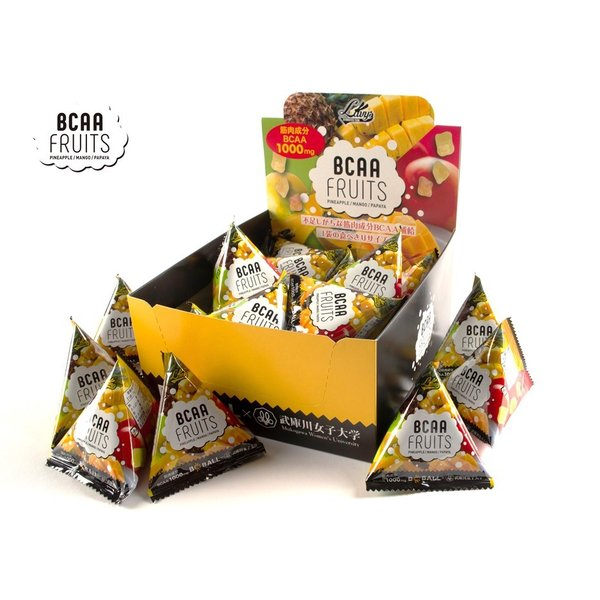 ナウカ BCAAフルーツ BCAA強化機能性トロピカルフルーツ  アミノ酸 食べやすい  20袋入 BCBALLシリーズ 国内生産|nauka