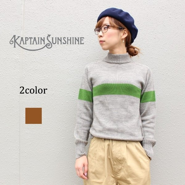 KAPTAIN SUNSHINE(キャプテンサンシャイン)SEAMLESS NAVAL SWEATER 2color