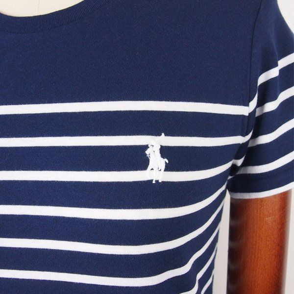 b2cd0a1d2cc6a ... ラルフローレン ポロ レディース ポニーワンポイント ボーダー クルーネック Tシャツ ワンピース POLO Ralph Lauren ...