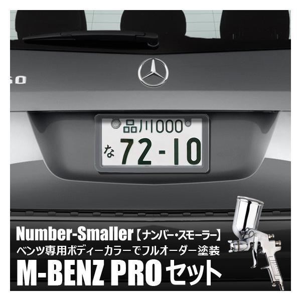 メルセデス・ベンツのボディーカラーで塗装専門職人がフルオーダーペイント【ナンバー・スモーラーM-BENZ PROセット】|naviokun