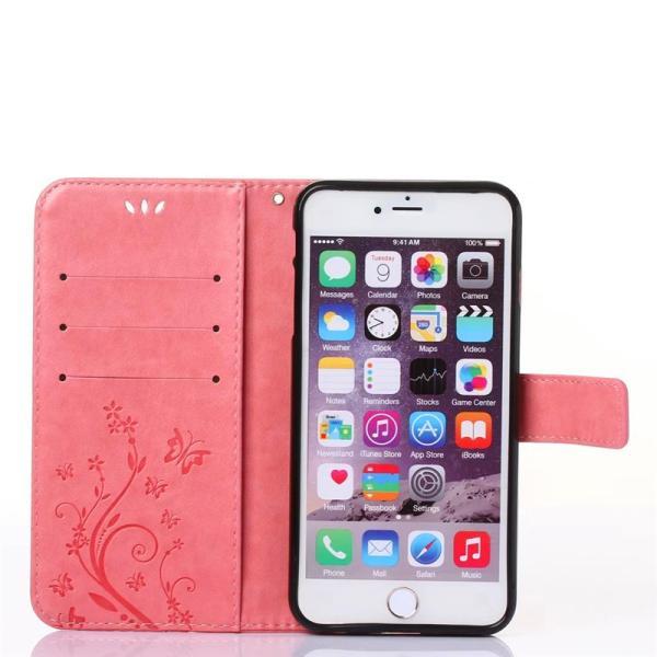iphone6 iphone6s iphone6 plus iphone6s plusケース 手帳型 アイフォン6ケース 横向き iphone6sケース 花柄 手帳型 iphone6s plusケース|navy-pink|03
