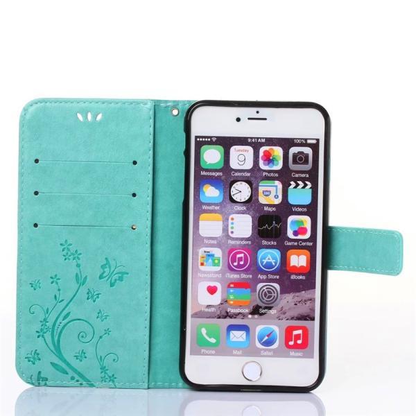 iphone6 iphone6s iphone6 plus iphone6s plusケース 手帳型 アイフォン6ケース 横向き iphone6sケース 花柄 手帳型 iphone6s plusケース|navy-pink|05
