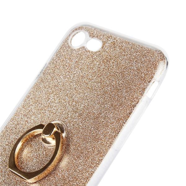 iPhone8/8 Plusケース かわいい キラキラ フィンガー リング付き ソフト スタンド アイフォン8 iPhone8 スマホケース スマホリングケース|navy-pink|05