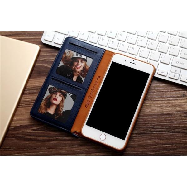 iPhone8/8 Plus対応 スマホケース 手帳型 レザーケース カード収納 iPhone8ケース 革製 高級 アイフォン8 スライド 最新 おしゃれ 名入れ エレガント シンプル|navy-pink|02
