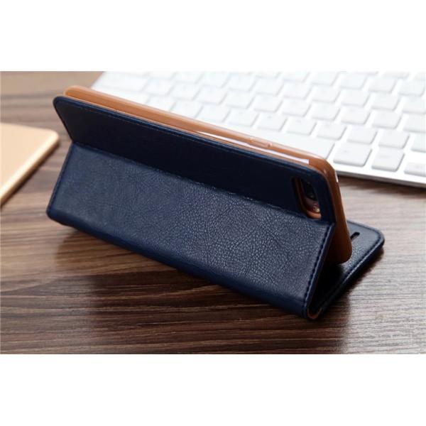 iPhone8/8 Plus対応 スマホケース 手帳型 レザーケース カード収納 iPhone8ケース 革製 高級 アイフォン8 スライド 最新 おしゃれ 名入れ エレガント シンプル|navy-pink|03