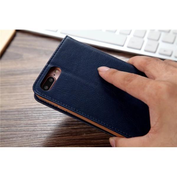 iPhone8/8 Plus対応 スマホケース 手帳型 レザーケース カード収納 iPhone8ケース 革製 高級 アイフォン8 スライド 最新 おしゃれ 名入れ エレガント シンプル|navy-pink|05