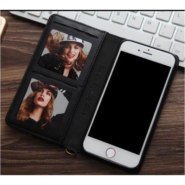 iPhone8/8 Plus対応 スマホケース 手帳型 レザーケース カード収納 iPhone8ケース 革製 高級 アイフォン8 スライド 最新 おしゃれ 名入れ エレガント シンプル|navy-pink|07